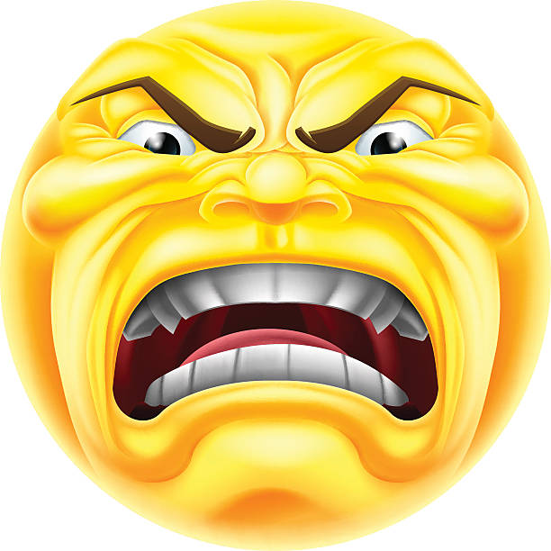 angry emoji emoticon - jealous emoji stock illustrations, clip art, cartoons, & icons