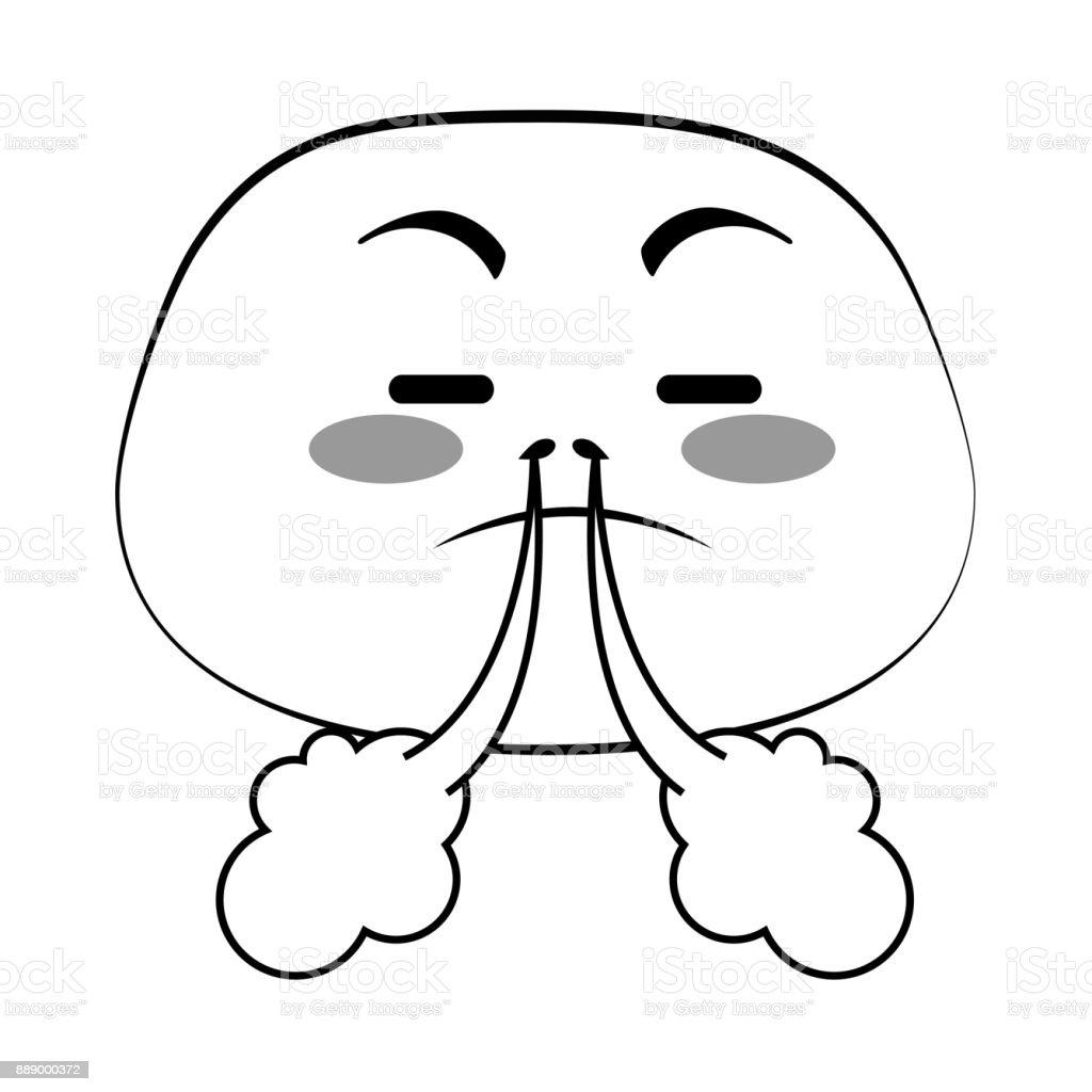 Kızgın Emoji Yüz Simgesi Stok Vektör Sanatı 30 34 Yaşnin Daha
