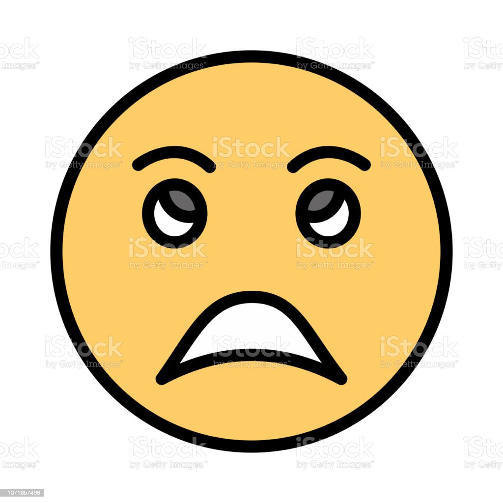 Angry Face Emoji Stock Vector Art More Images Of Advice Istock