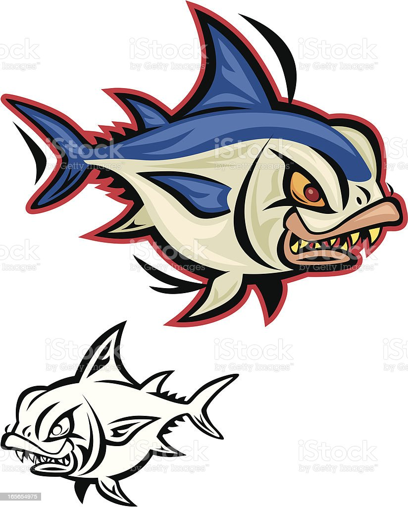 angry fish royalty-free angry fish stock vector art & more images of aggression