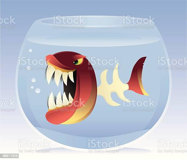 Angry Fish With Bone Body-vektorgrafik och fler bilder på Aggression
