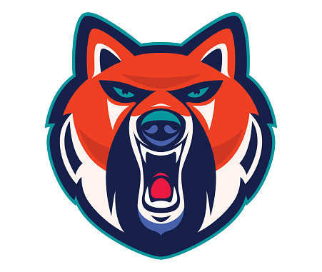 angry fox mascot