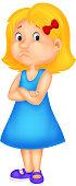 Angry girl cartoon