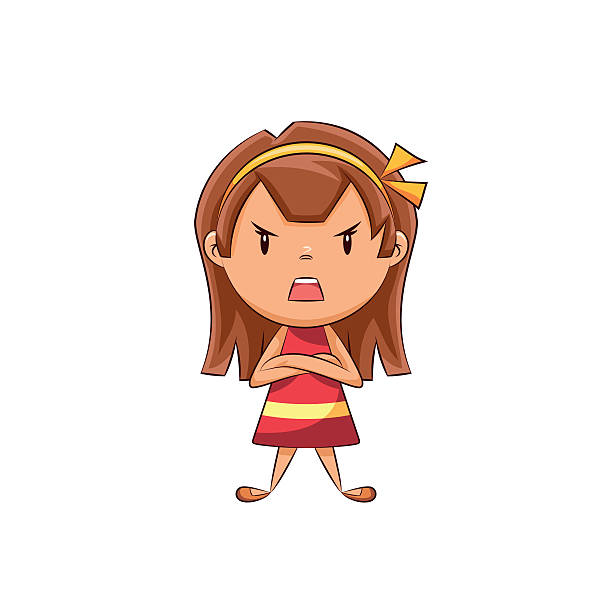 Royalty Free Angry Girl Clip Art, Vector Images ...