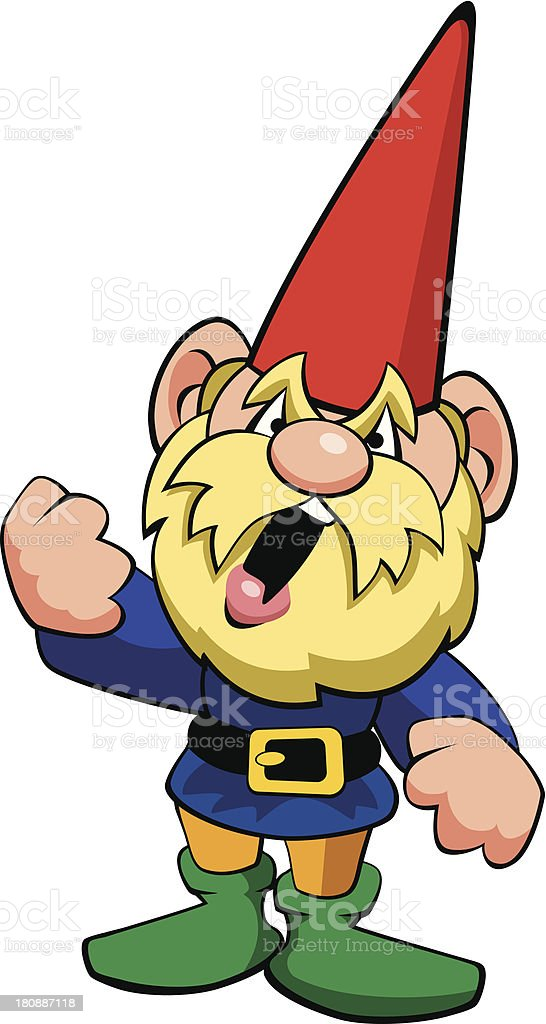 Angry Gnome royalty-free stock vector art