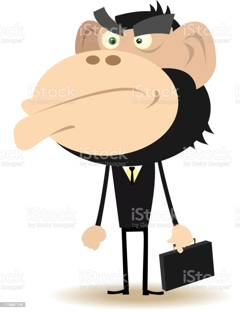 Angry Gorilla Businessman royalty-free angry gorilla businessman stock vector art & more images of anger