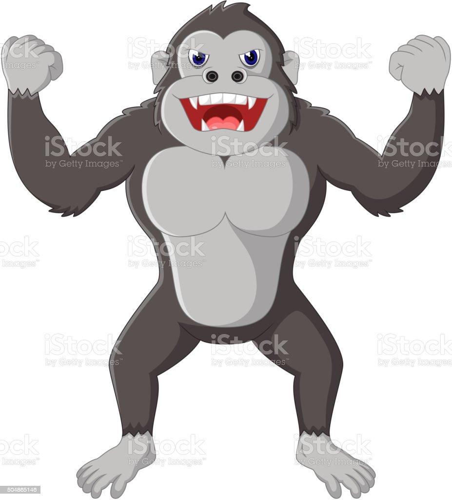 Ilustración de Gorila De Historieta Enojada y más banco de imágenes ...