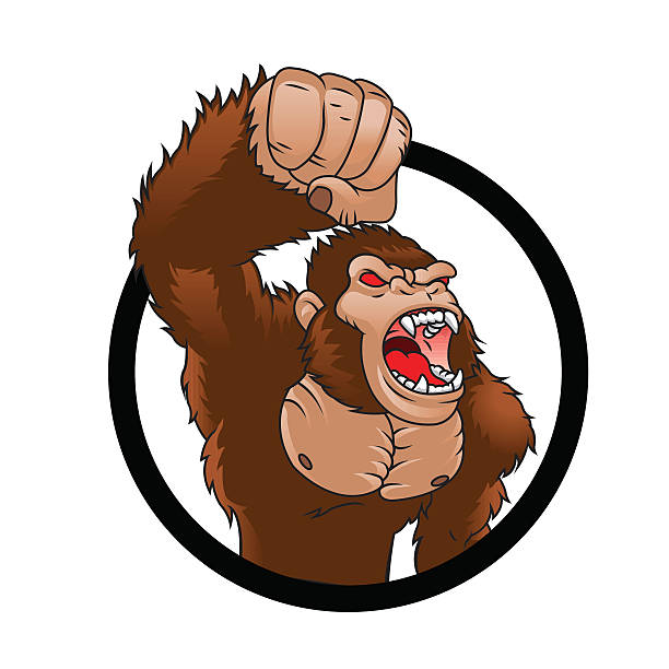 Royalty Free Gorilla Angry Clip Art, Vector Images ... - photo#48