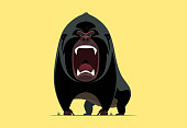 angry gorilla screaming