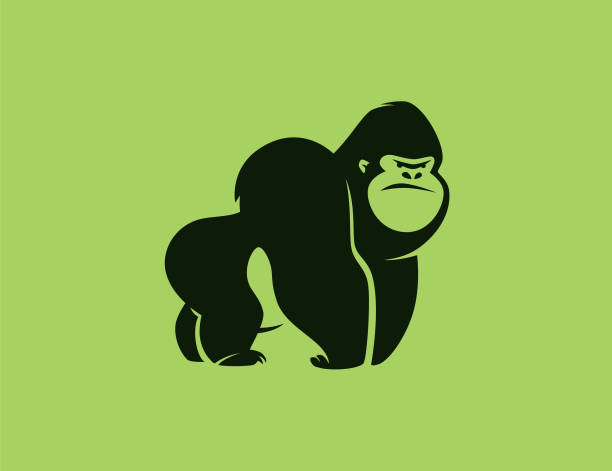 angry gorilla symbol vector illustration of angry gorilla symbol gorilla stock illustrations