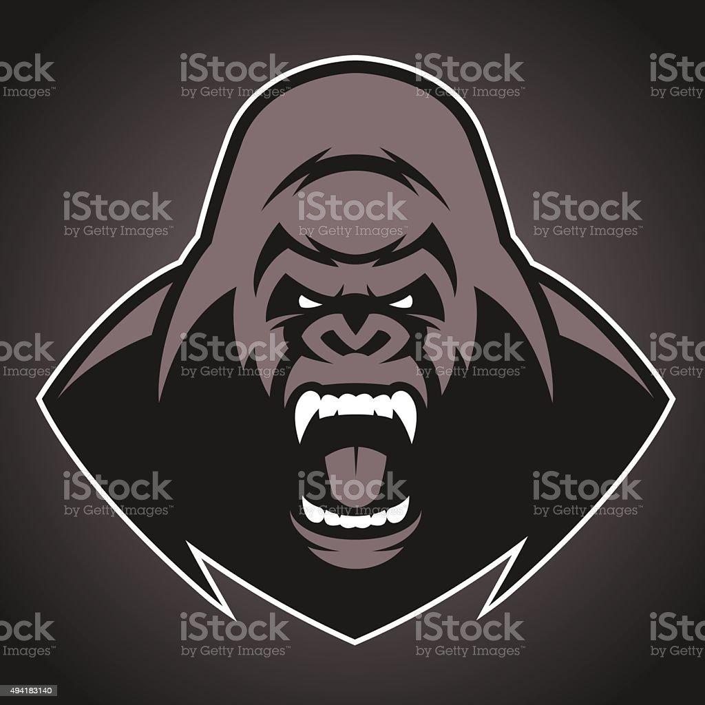 En colère gorilla symbole - Illustration vectorielle