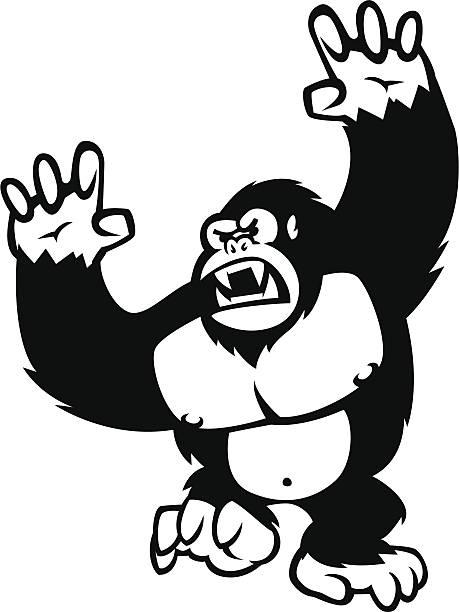 怒り gorilla ベクターアートイラスト