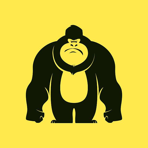 angry gorilla - gorilla stock illustrations