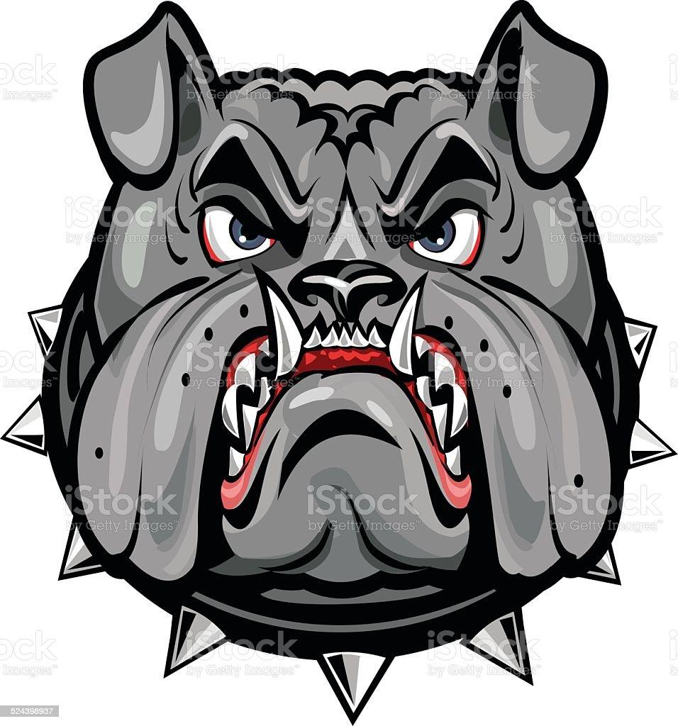 Ilustração De Angry Cinza Bulldog E Mais Banco De Imagens De