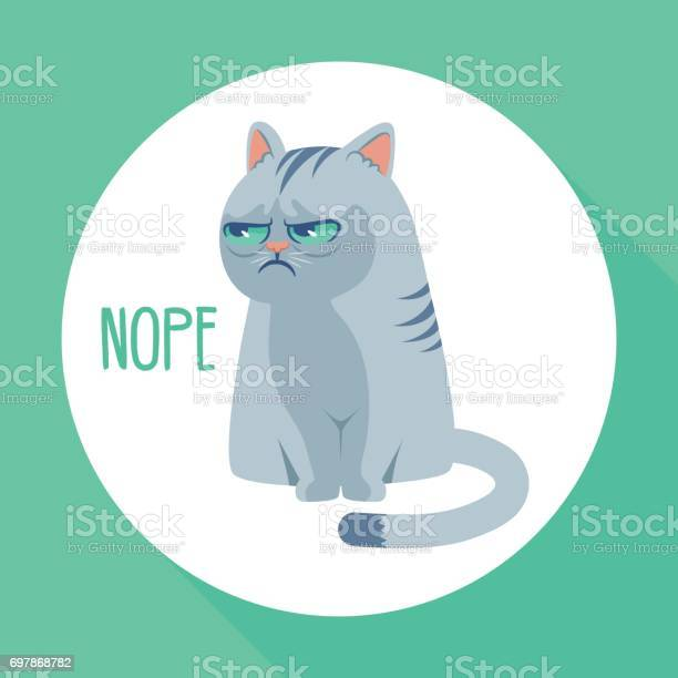 Angry grumpy cat flat vector illustration nope kitty on green vector id697868782?b=1&k=6&m=697868782&s=612x612&h=cnmhanoa5faqgj0b0sofsojtdklaw4hlxhtsihhae2i=