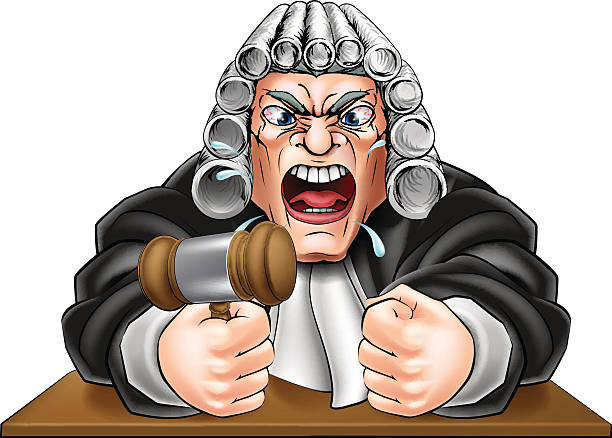 angry judge with gavel - old man crying stock illustrations, clip art, cartoons, & icons