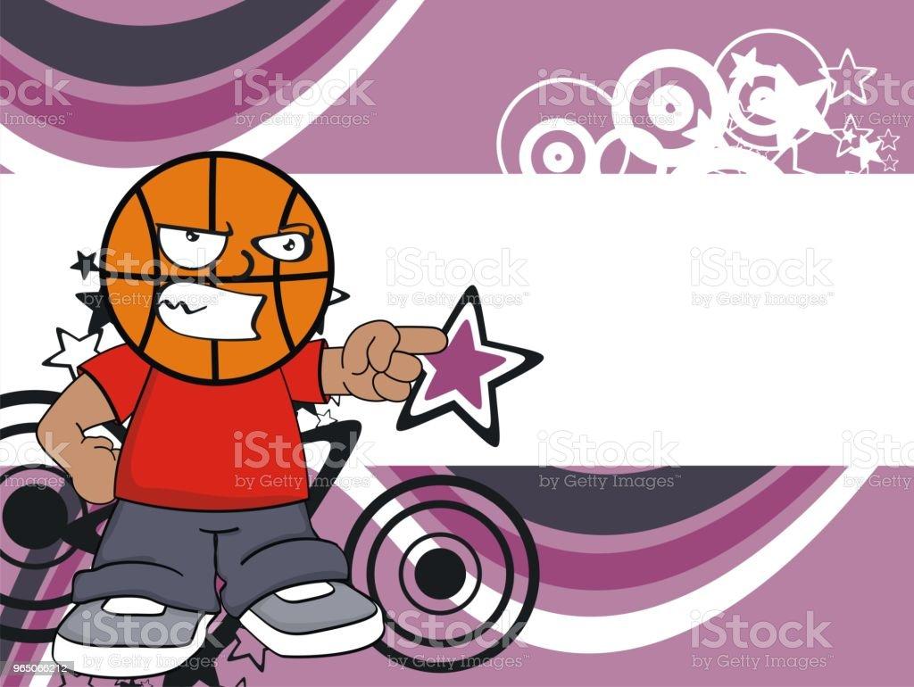 angry kid basketball head cartoon background angry kid basketball head cartoon background - stockowe grafiki wektorowe i więcej obrazów ameryka Łacińska royalty-free