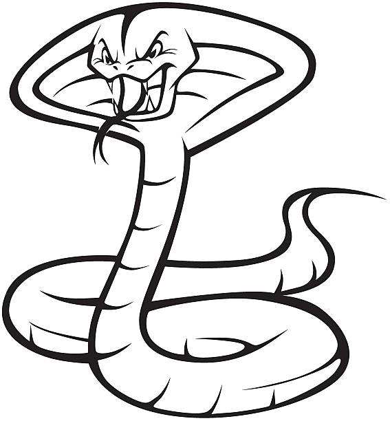 Angry King Cobra Illustration Vector Art
