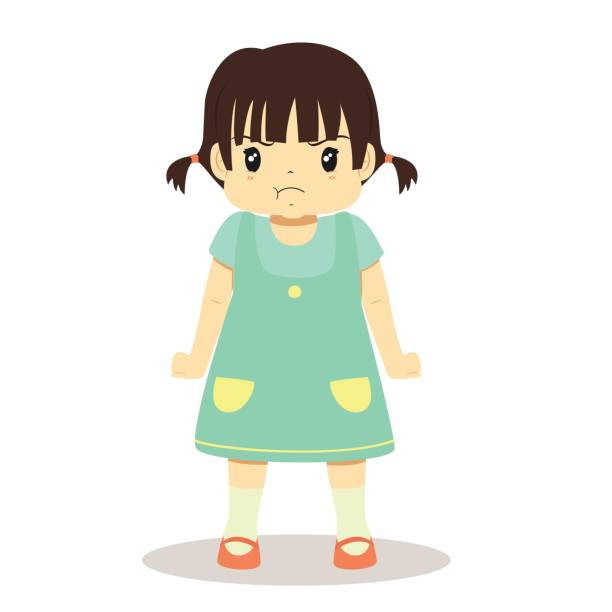 Frown Girl Stock Illustrations – 377 Frown Girl Stock Illustrations,  Vectors & Clipart - Dreamstime