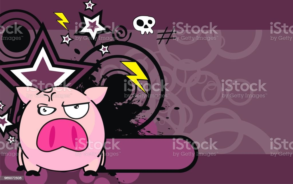 angry little pink pig ball cartoon expression background royalty-free angry little pink pig ball cartoon expression background stock vector art & more images of animal