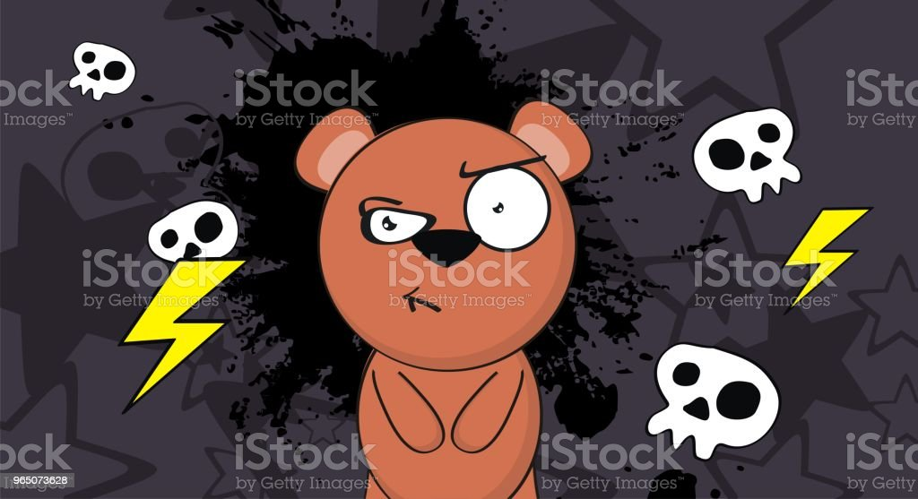 angry little teddy bear cartoon background royalty-free angry little teddy bear cartoon background stock vector art & more images of bear