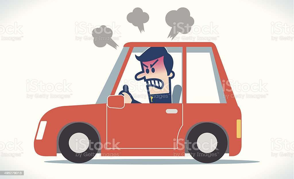 Angry man driving royalty-free angry man driving stock vector art & more images of adult