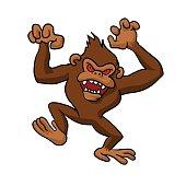 Angry Monkey Cartoon.