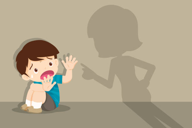Maltrato Infantil Vectores Libres De Derechos Istock