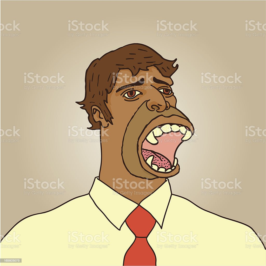Angry Office Mutant Gorilla Guy Or Something vector art illustration