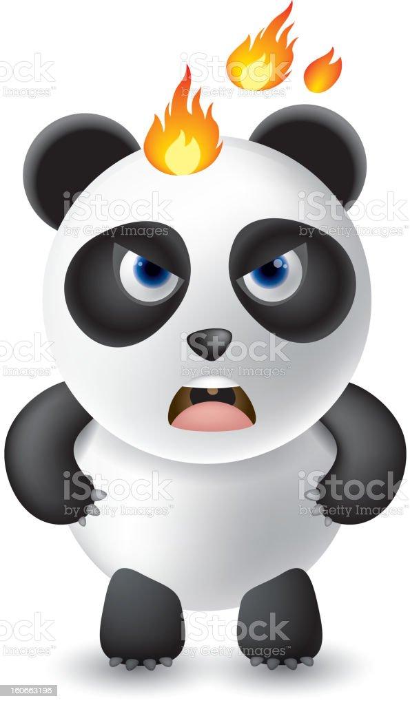 Angry panda royalty-free stock vector art