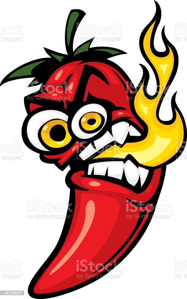 angry pepper royalty-free stock vector art