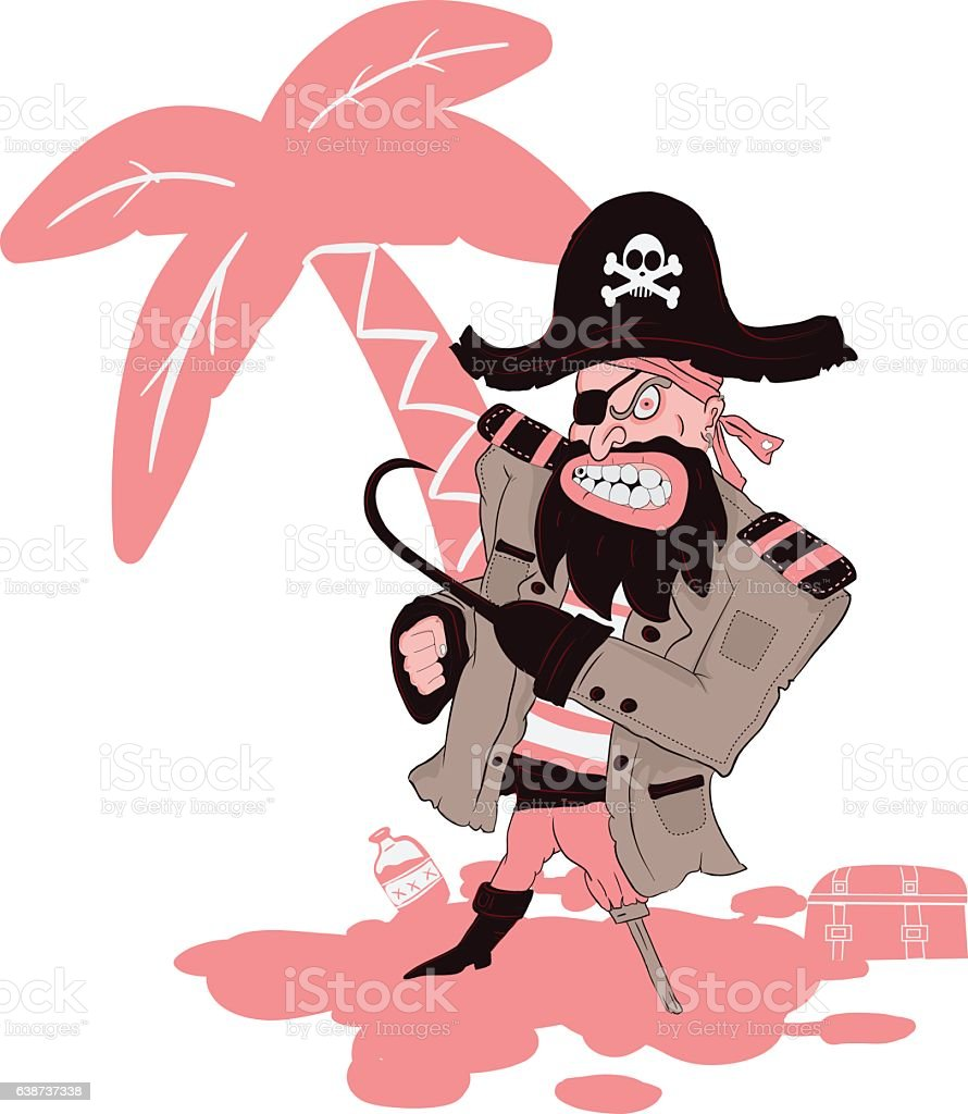 05f33e12ad8 Angry Pirate Vector Illustration 2 Stock Vector Art   More Images of ...