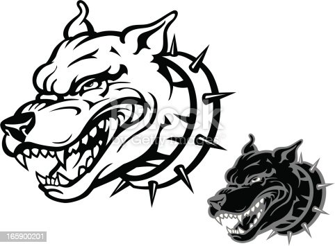 Angry Pitbull Stock Vector Art & More Images of Anger ...