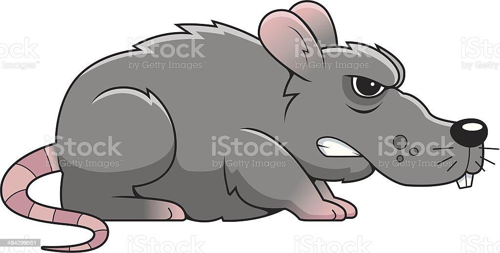 Angry Rat vector art illustration