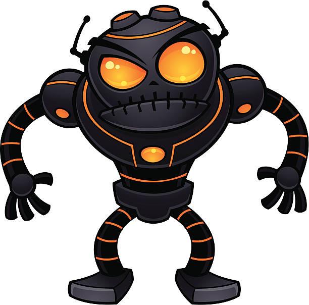 Angry Robot vector art illustration