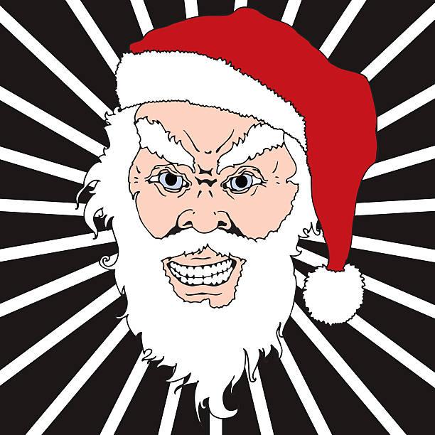 Angry Santa Claus vector art illustration