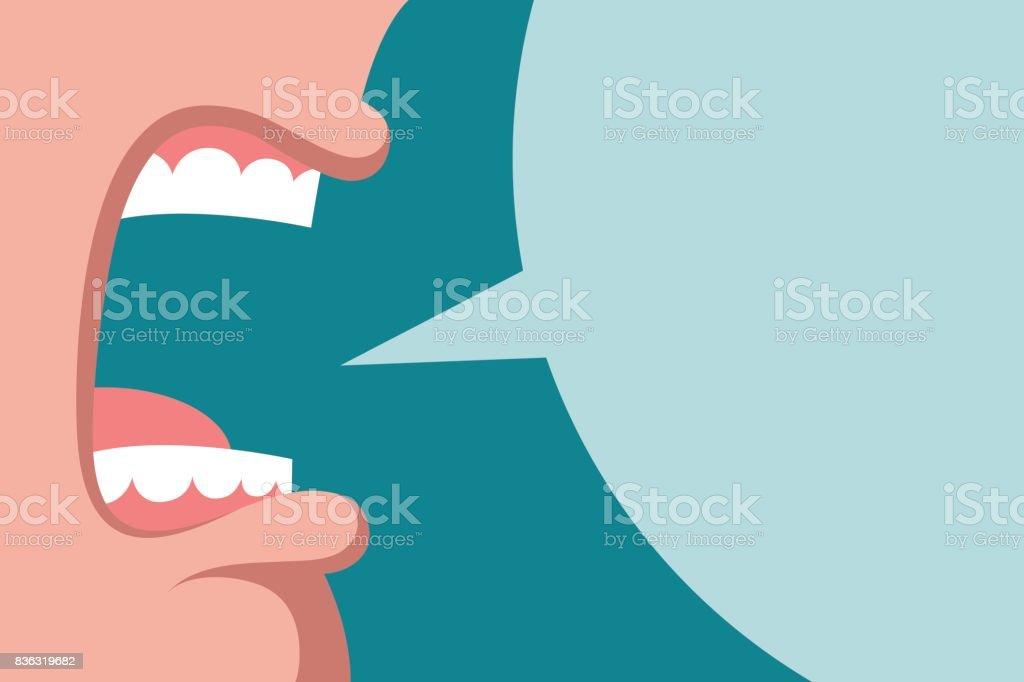 Angry screaming boss - ilustração de arte vetorial
