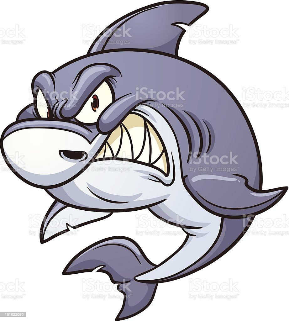 Angry shark royalty-free stock vector art