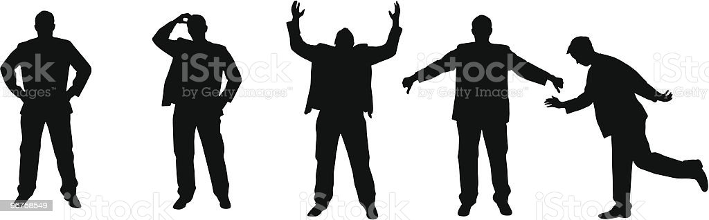 angry silhouettes royalty-free stock vector art