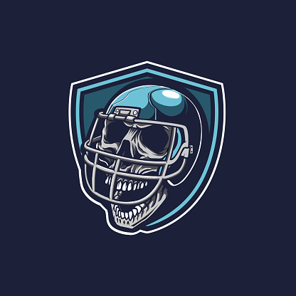 Angry Skull Sport Rugby Mascot