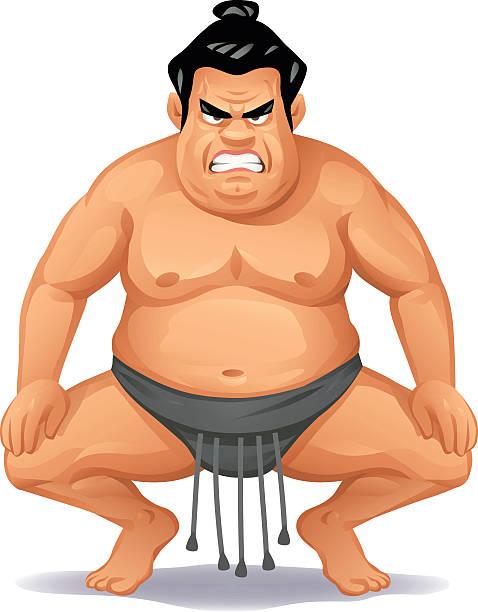 wütend sumo-wrestler - sumo stock-grafiken, -clipart, -cartoons und -symbole