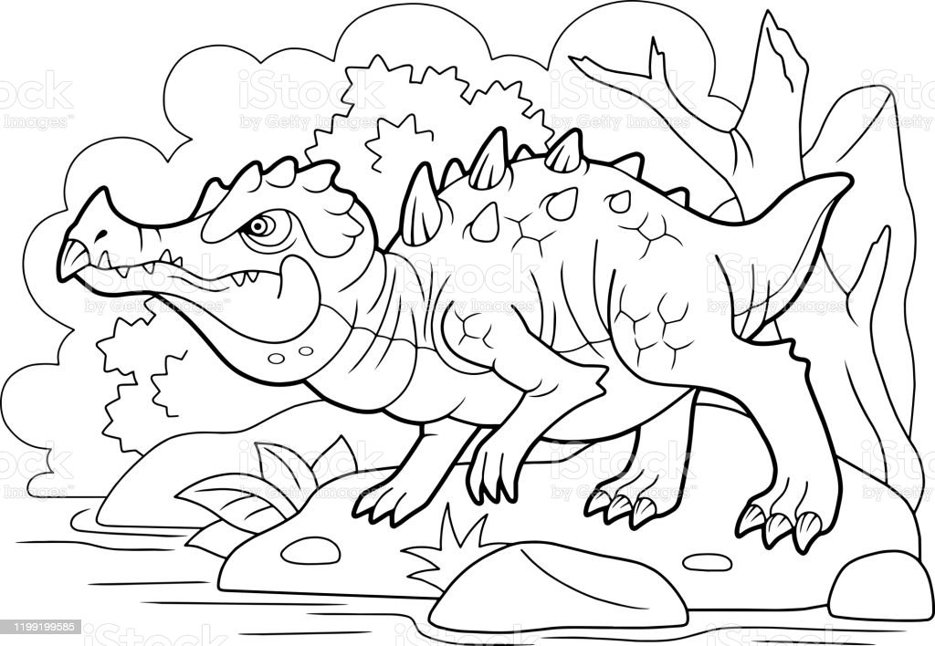 - Angry Swamp Dragon Coloring Book Funny Illustration Stock Illustration -  Download Image Now - IStock