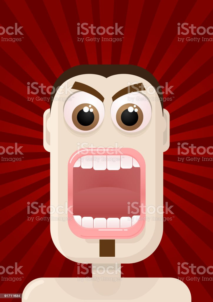 Angry vector art illustration