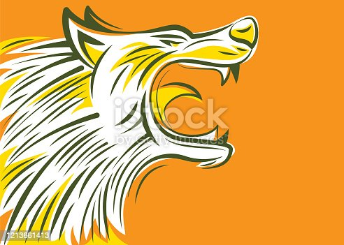 vector illustration of angry wolf head