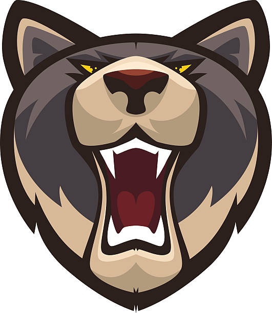 Royalty Free Angry Wolf Clip Art, Vector Images ...
