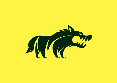 angry wolf symbol