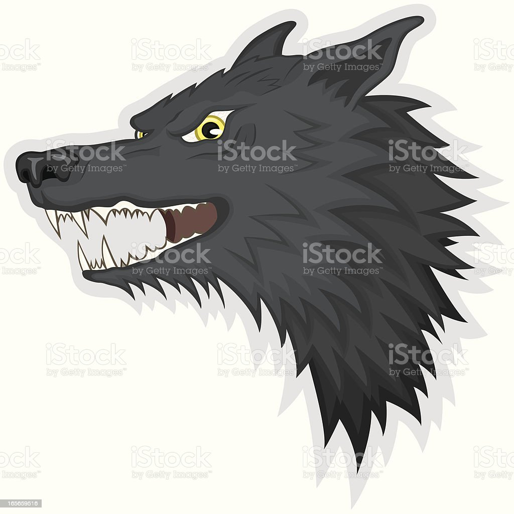 Angry Wolf vector art illustration