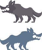 vector illustration of angry wolf…
