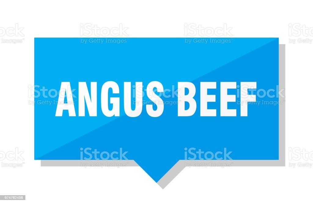 angus beef price tag vector art illustration