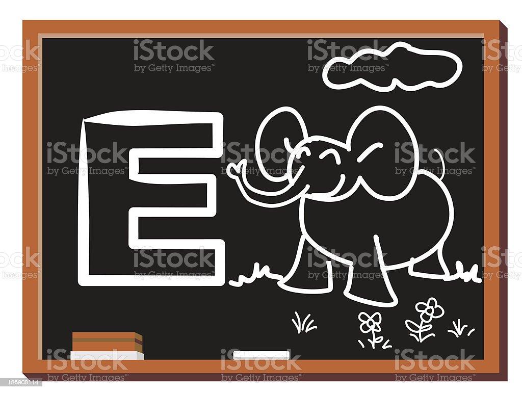 Animal alphabet E royalty-free stock vector art